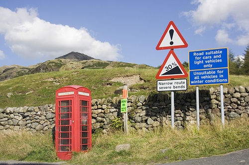 Hardknott Phone Box
