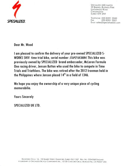 specialized letter