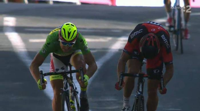 Greg Van Avermaat and Peter Sagan